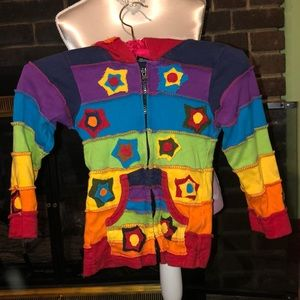 100% Cotton Peruvian Inspired Jacket Size 2/3T